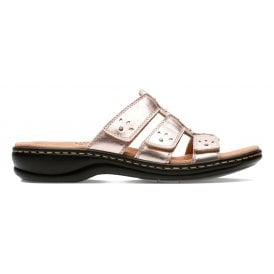 75bca64652d8 Womens Leisa Spring Rose Gold Leather Velcro Mule Sandals 26135135