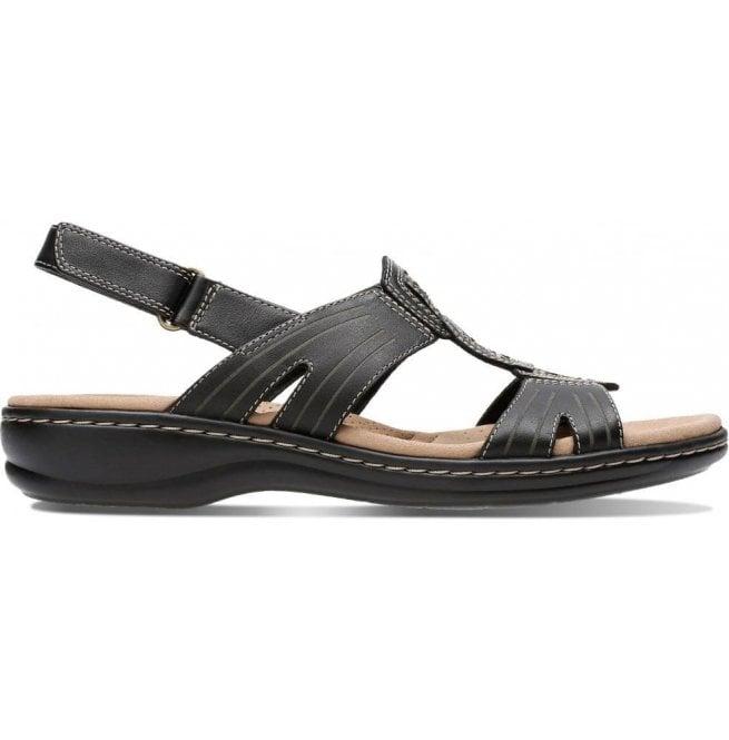 a4d824e5b73 Clarks Clarks Womens Leisa Vine Black Leather Sandals 26134113