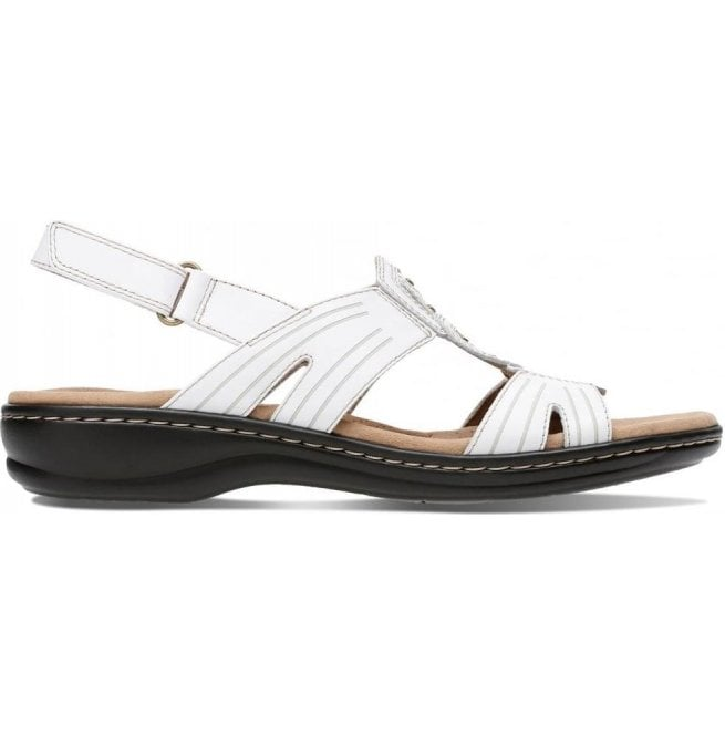 f118109d6c2 Clarks Clarks Womens Leisa Vine White Leather Sandals 26134116
