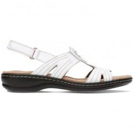 14faae6a2ae Womens Leisa Vine White Leather Sandals 26134116 · Clarks ...