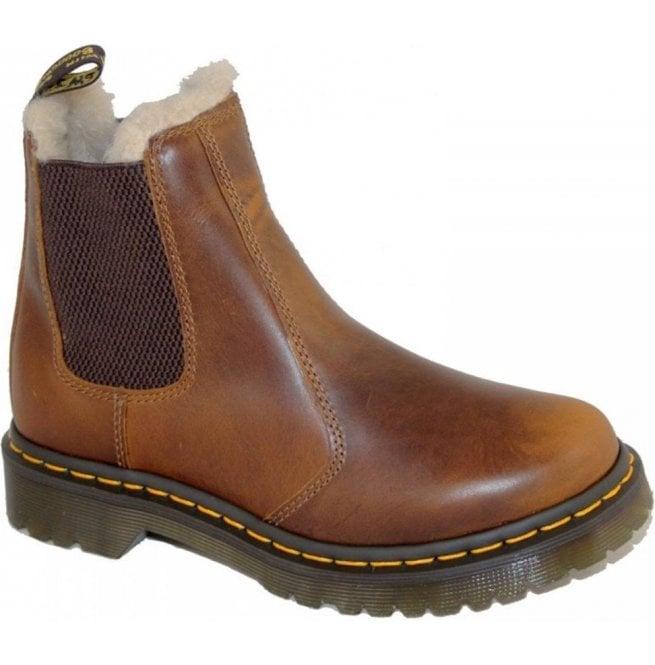 Dr Martens Dr Martens Womens Leonore Butterscotch Fur Lined Ankle Boots  23898243 336e23dab616