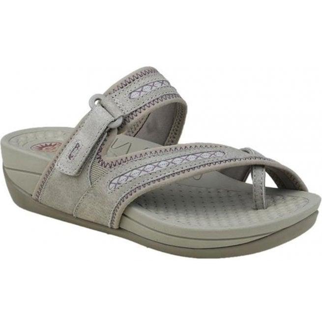 45f2382b8cdf Earth Spirit Earth Spirit Womens Lexington Khaki Velcro Strap Toe Loop  Sandals 28042