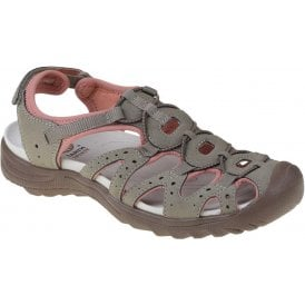 c8f4ca43d8813 Womens Midway Brown/Coral Velcro Trail Sandals 30260. Earth Spirit ...