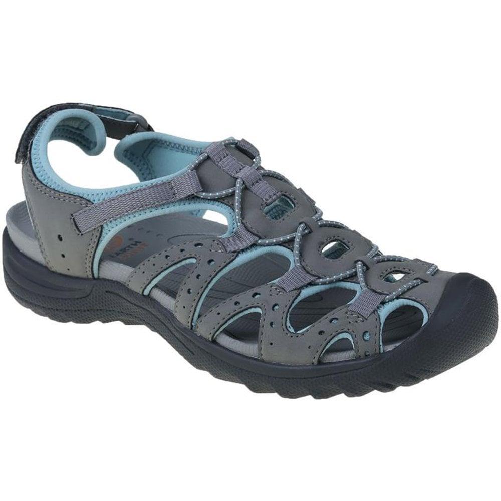 Midway Earth Womens Trail Velcro 30259 Spirit GreyAqua Sandals PXNn0w8Ok