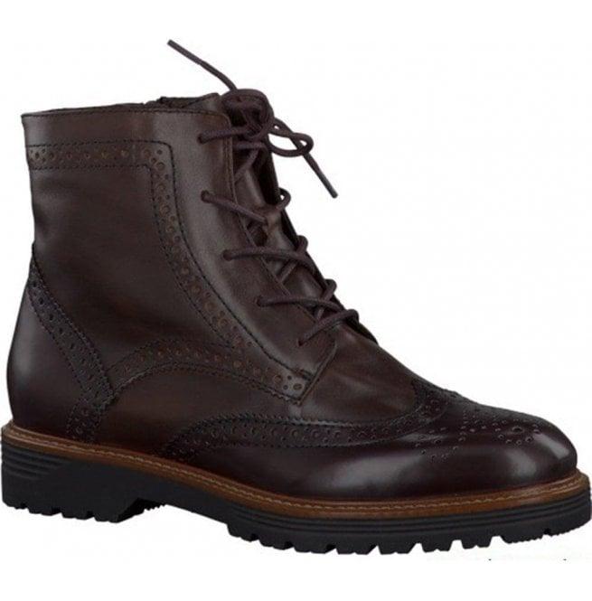 promo code e32e9 085d0 Jana Womens Mocca Lace Up Ankle Boots 8-8-25222-35 304