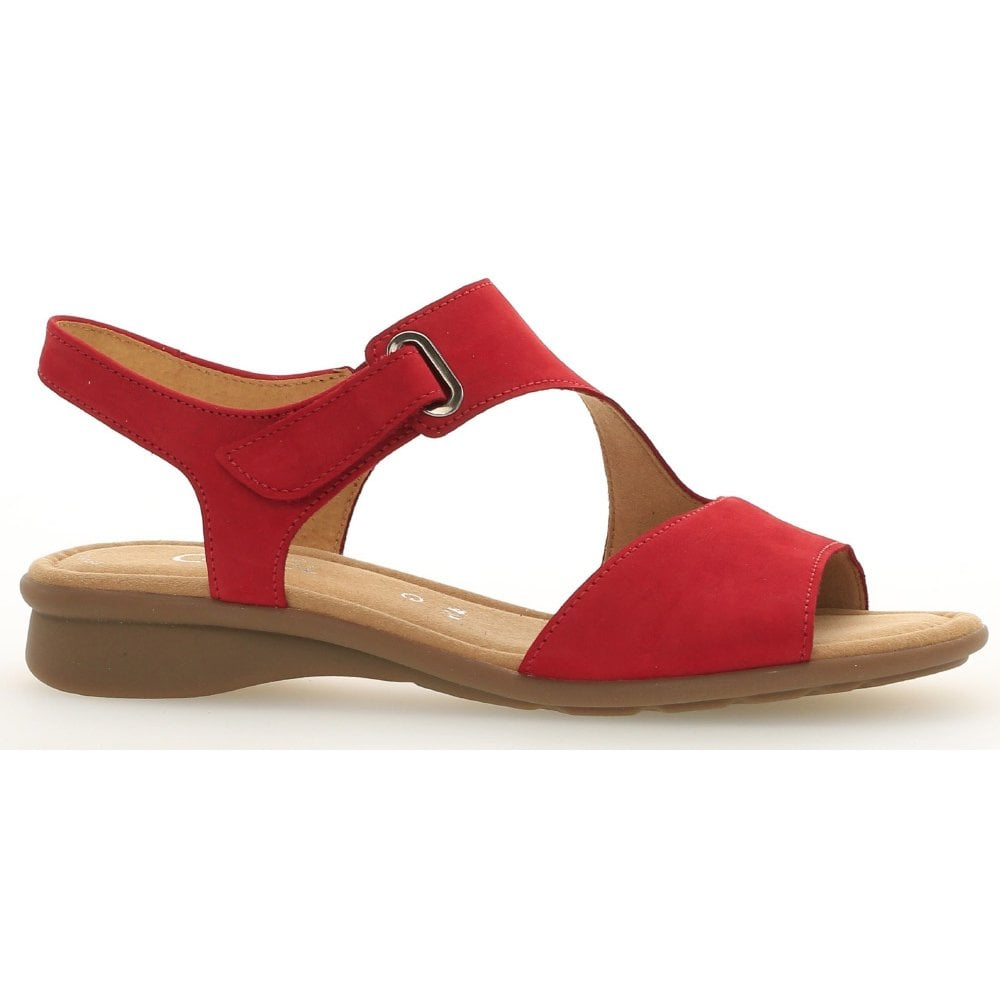 attraktive Mode bezahlbarer Preis baby Womens Mostic Red Nubuck Velcro Sandals 063.48