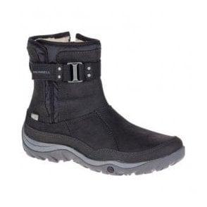 821499ab Womens Murren Strap Black Waterproof Ankle Boots J02172