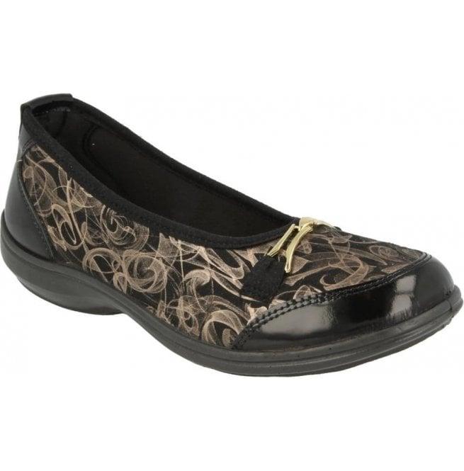 e6166416e3fb DB Easy B DB Easy B Womens Nailsea Black Patent Smoke Shoes 10026X EE-4E  (2V)
