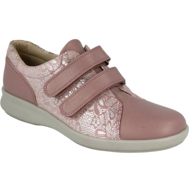 DB Easy B DB Easy B Womens Naomi Rose Silver Leather Velcro Shoes 79604R 4E 3c7d6ad5c