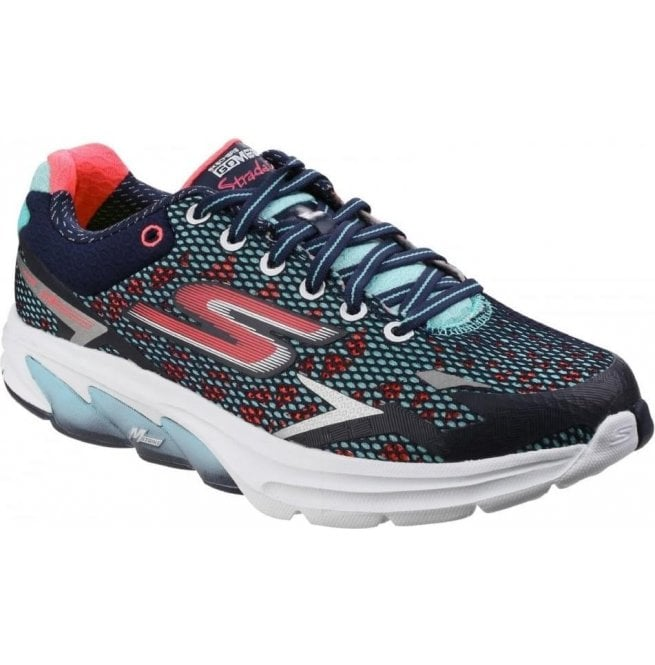 Skechers Womens Navy Coral Go Meb - Strada 2 Trainers SK14115 8ae2afcff2