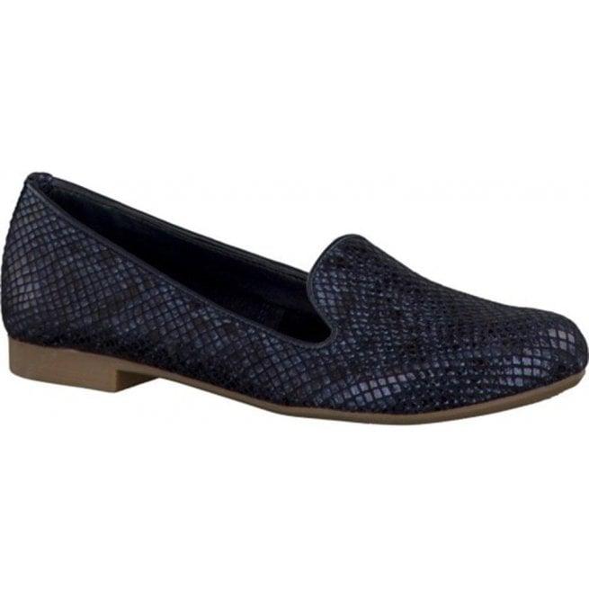 068c3ea5 Marco Tozzi Marco Tozzi Womens Navy Leather Ballerina Pump Shoes  2-2-24228-28 805