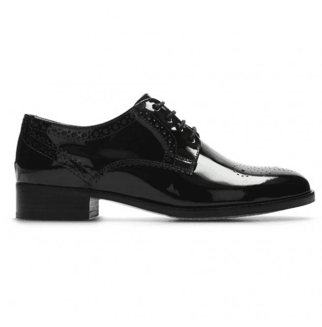 Clarks Netley Rose Black Patent Leather