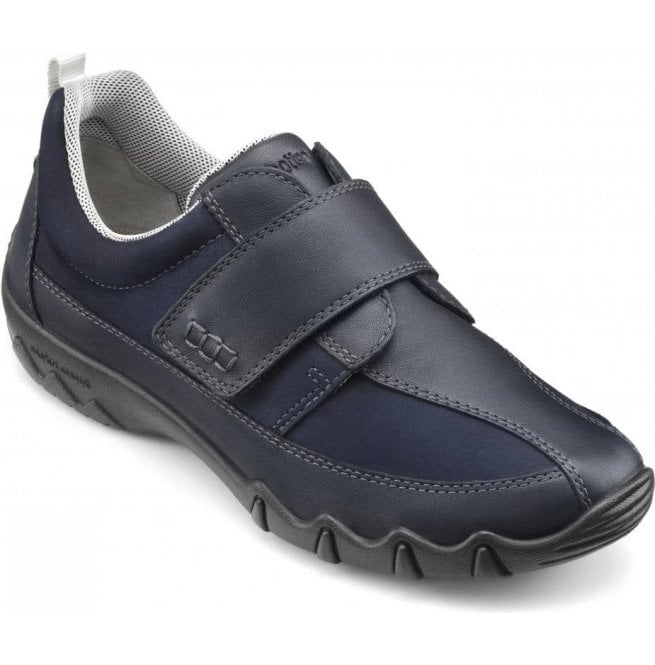5f1f3df068eb Hotter Hotter Womens Nicole Extra Wide Navy Leather Velcro Trainers