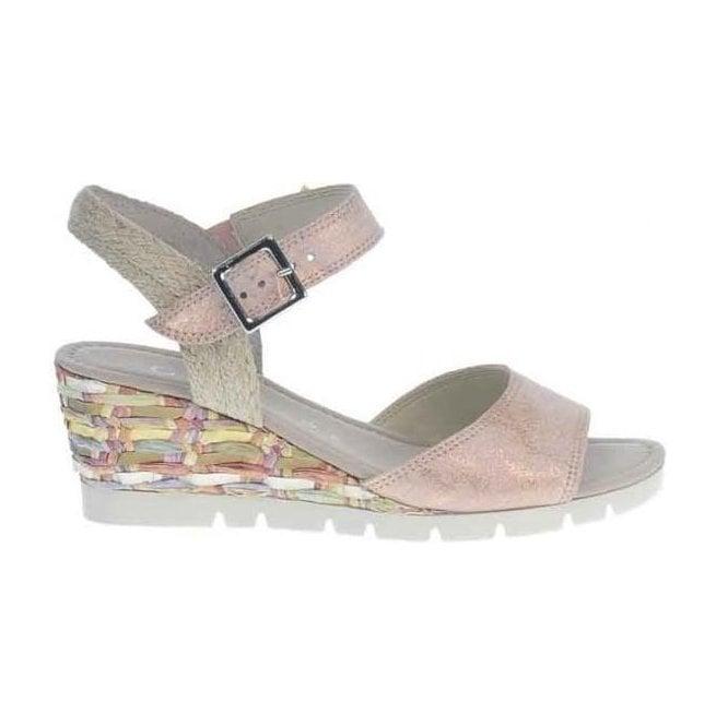 491cd19ef Gabor Gabor Womens Nieve Copper Sling Back Wedge Heel Sandals 842.19