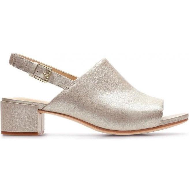 c60e362e77e Clarks Clarks Womens Orabella Ivy Champagne Metallic Sandals 26131186