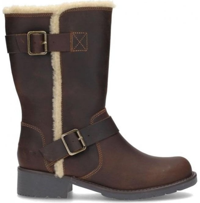 18db795230d8 Clarks Clarks Womens Orinoco Art Beeswax Leather Mid Calf Boots