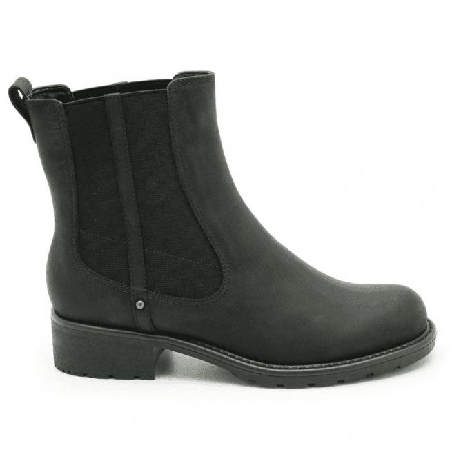 ba76eff01876 Clarks Clarks Womens Orinoco Club Black Leather Chelsea Boots
