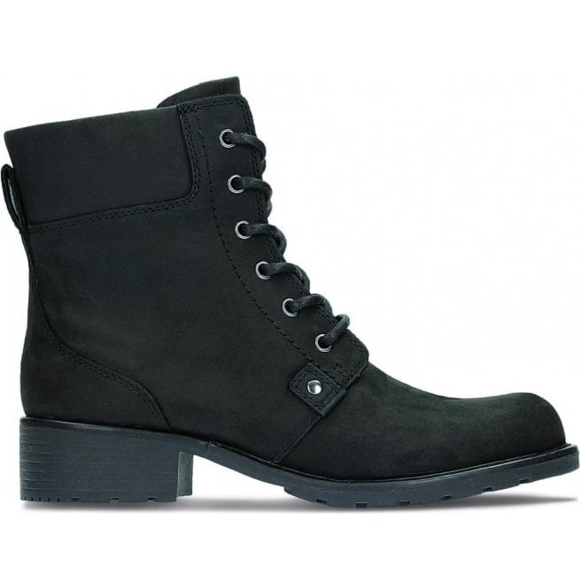 d5a7e8c1 Womens Orinoco Spice Black Leather Ankle Boots 26110938