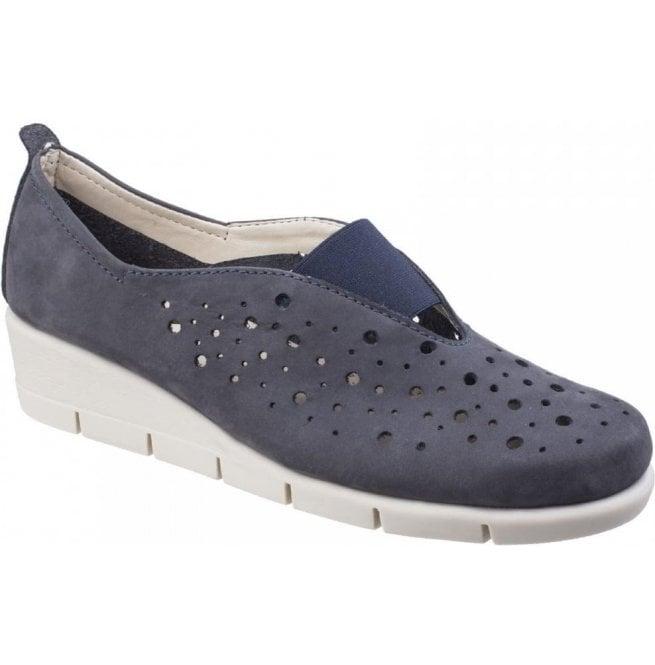 db5b272364 The Flexx The Flexx Womens Paranoia Navy Nubuck Wedge Shoes