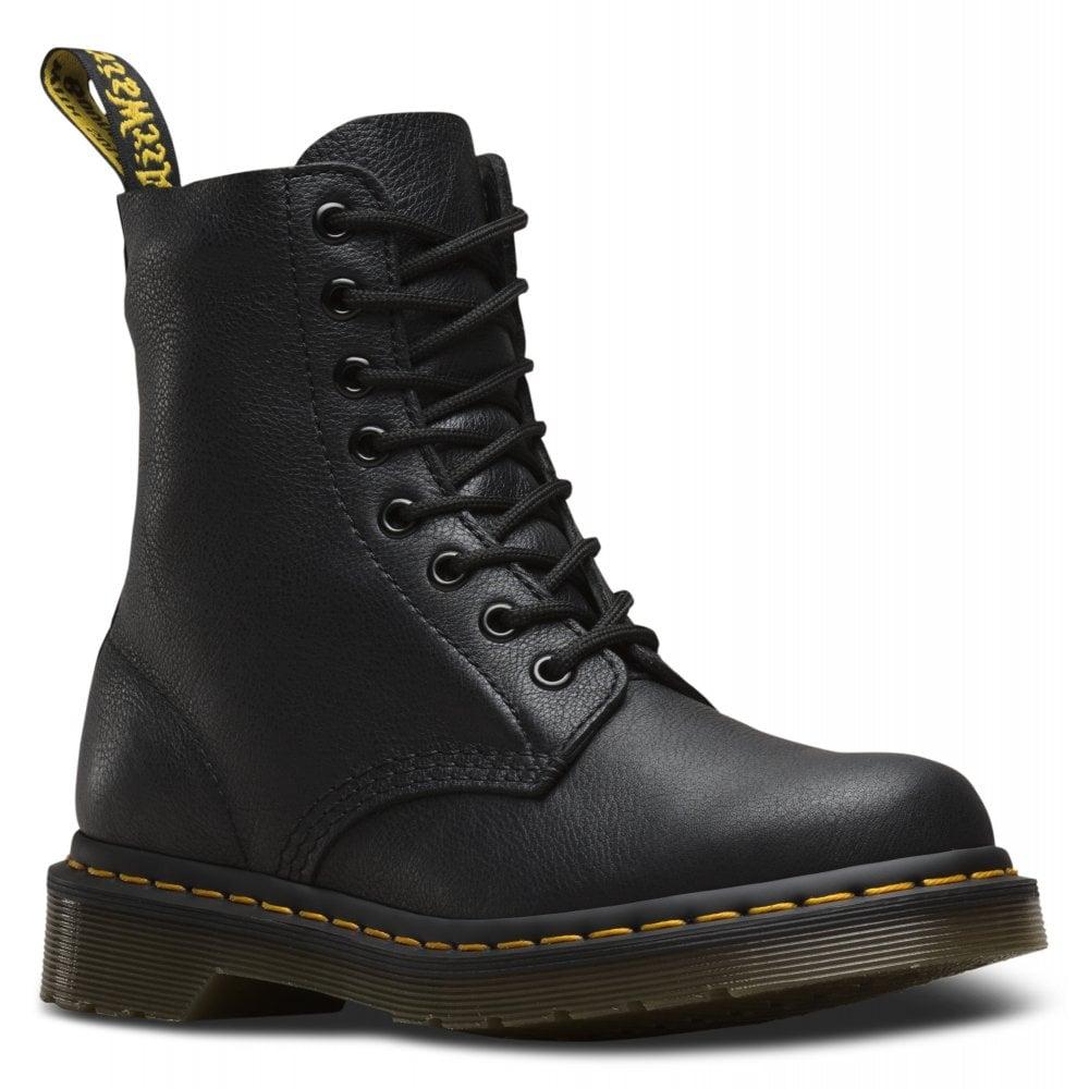7483d9458782 Dr Martens Dr Martens Womens Pascal Black Virginia 8-Eye Boot 13512006