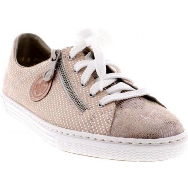 74c473e49 Womens Pink Silver Combi Lace-Up Shoes L0943-62