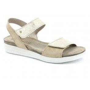 452657ac64ab Womens Platino Platinum Metallic Dual Velcro Sandals MP000006