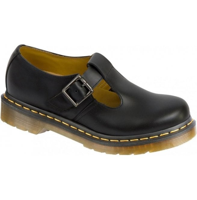 Dr Martens Dr Martens Womens Polley Black T-Bar Smooth Leather Shoe 14852001 b64e125f3a