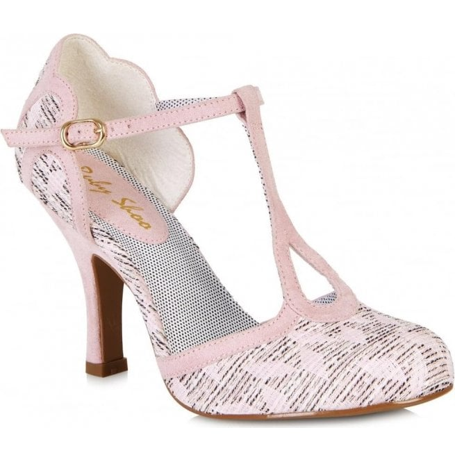 Ruby Shoo Womens Polly Pink T-Bar Court Shoes 09079 f6705b3225