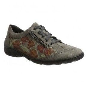 26773d8ce0f7c Rieker Womens Puerto Rose Cut Out Flower Design Slip On Pump Shoes ...
