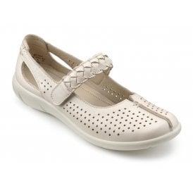 8e3b95129e Womens Quake Soft Beige Leather Mary Jane Shoes
