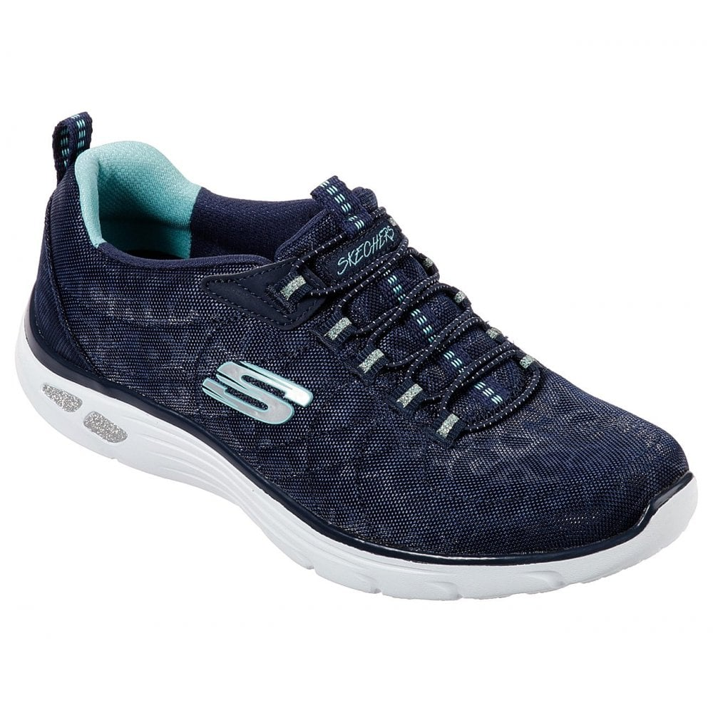 Spotted Navy Bungee Lace Trainers 12825