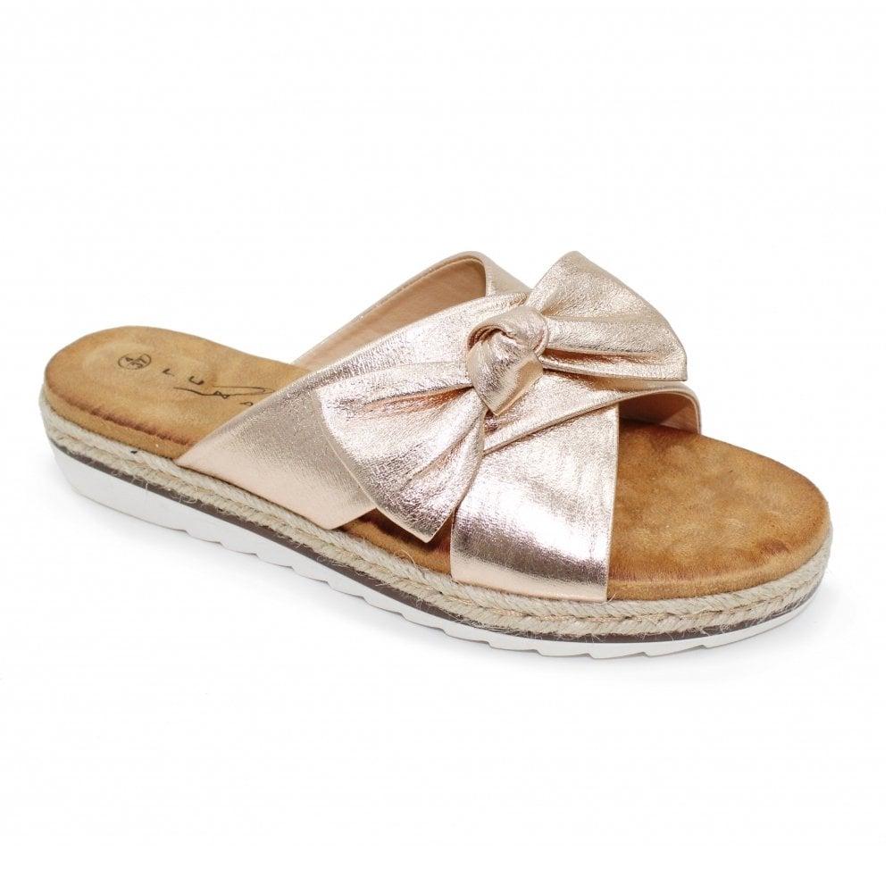 Rico Gold Mule Womens On Rose Slip Sandals Ro Jlh018 kOiTXuPZ