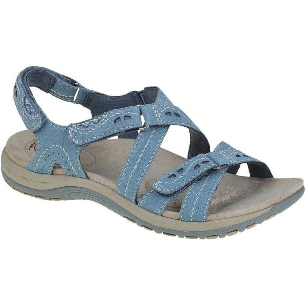 2a26d1049480 Earth Spirit Earth Spirit Womens Riverton Moroccan Blue Velcro Strap Sandals  30244