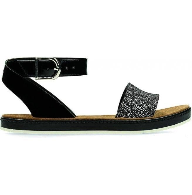 9bb058986 Clarks Womens Romantic Moon Black Combi Leather Sandals