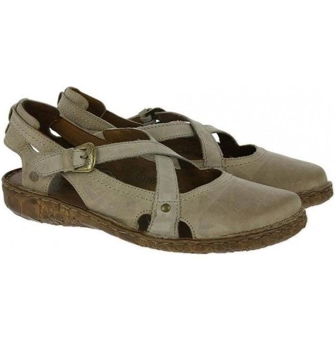 Josef Seibel Womens Rosalie 13 Cream Strap Over Shoes 79513 95 230