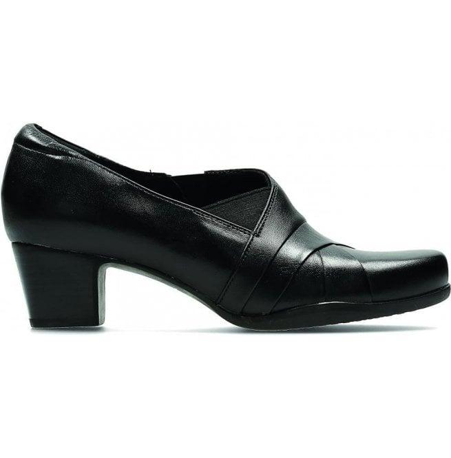 95497ed19e0 Womens Rosalyn Adele Black Leather Pump Shoes 26110955
