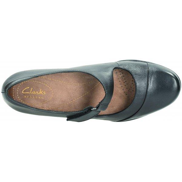 Clarks Rosalyn Wren Black Leather Mary