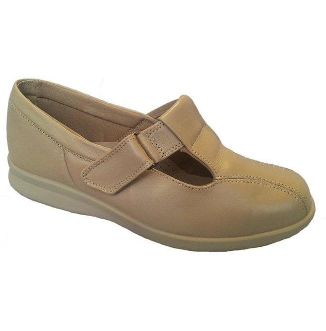 e1e900180f97 DB Easy B DB Easy B Womens Rowena Beige Leather Velcro Shoes 79022M 4E