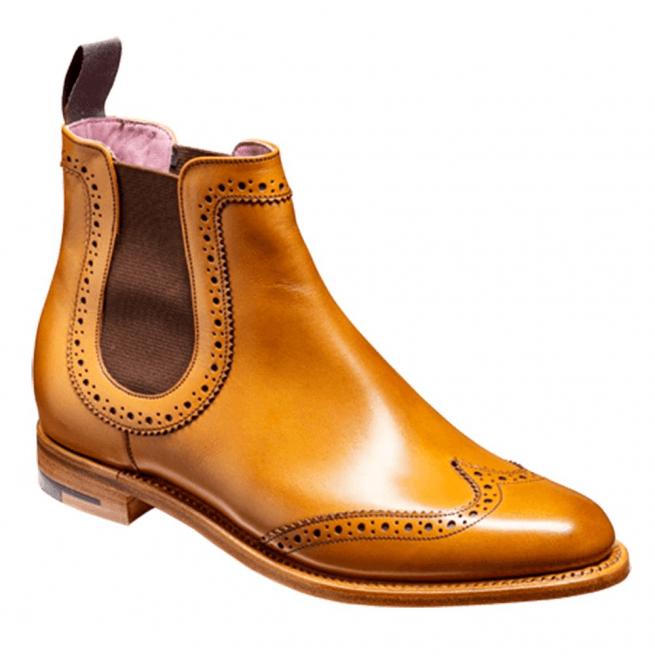 822e489399cec Barker Barker Womens Sabrina Cedar Brogue Chelsea Boots
