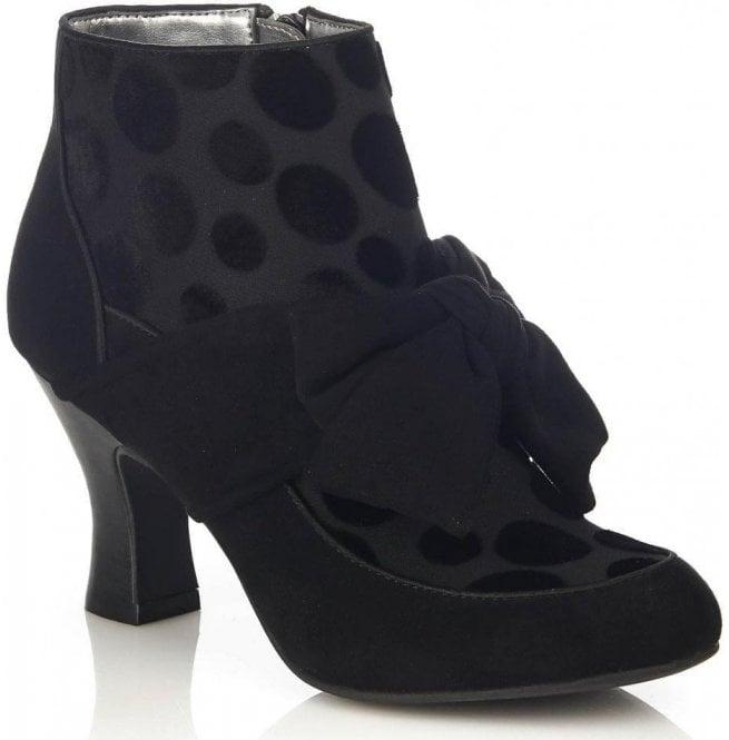 Ruby Shoo Seren Black Zip-Up Ankle