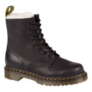 bae6e299e1641 Dr Martens Womens 1460 Pascal Navy Darcy Floral Backhand Ankle Boots ...