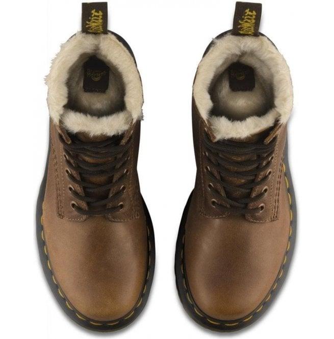 0d8da2637 Dr Martens Womens Serena Butterscotch Fur Lined Ankle Boots 23912243