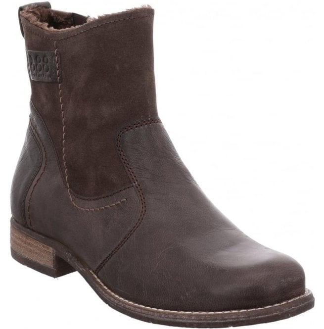 f1bf6431 Josef Seibel Womens Sienna 55 Grey (Brown) Ankle Boots 99655 VL001 710