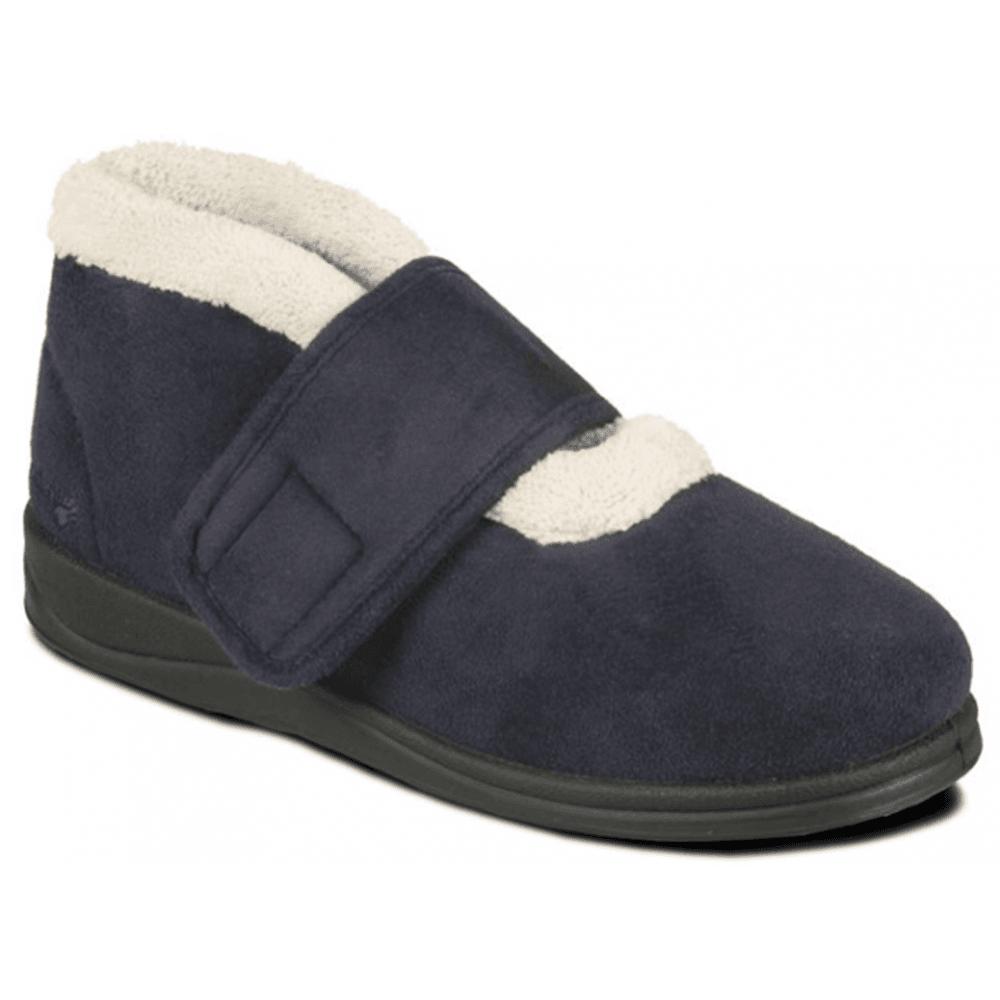 Padders Silent Navy Velcro Slippers