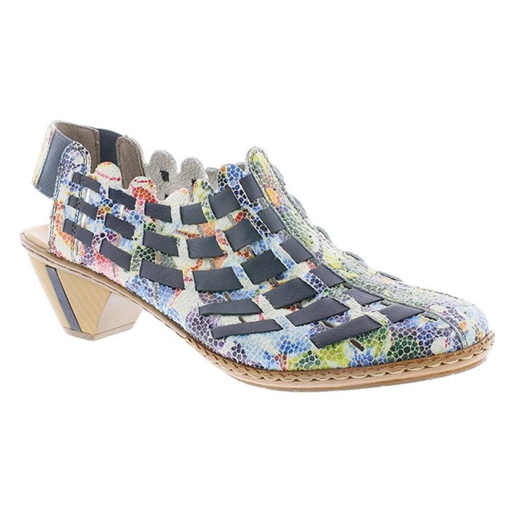 dc64fe7a93d Rieker Rieker Womens Sina Ice Multi Ocean Lattice Slingback Shoes 46778-91