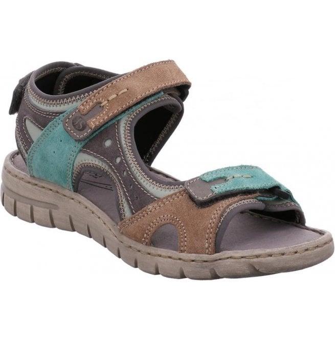 b37686efb Josef Seibel Josef Seibel Womens Stefanie 23 Mint-Multi Velcro Sandals  93423 949 612