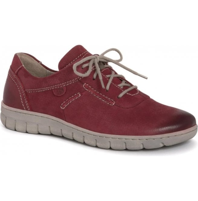 b29d6c84dca Josef Seibel Josef Seibel Womens Steffi SoN 07 Red Lace Up Trainers 93107  869 400