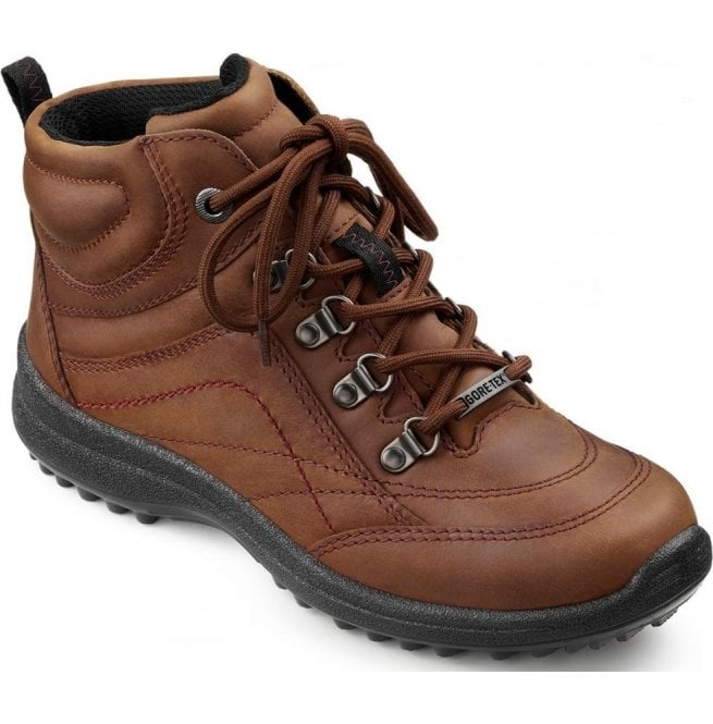 b984a9a8921 Hotter Womens Summit GTX Tan Leather Waterproof Lace Up Ankle Boots
