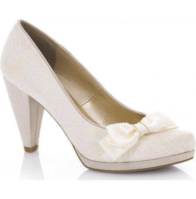 a2c70f62bb848 Ruby Shoo Ruby Shoo Womens Susanna Cream Slip-On Court Shoes 09156