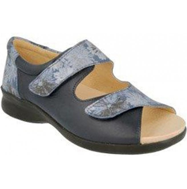DB Easy B Sycamore Navy Floral Leather